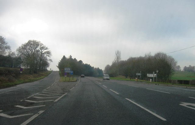 A339, turning for Kingsclere