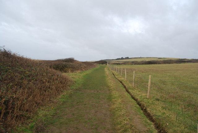 South West Coast Path near Burton Mere