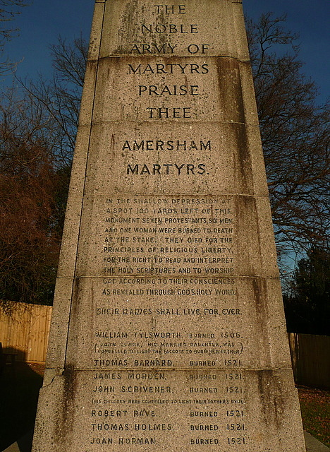 The Amersham Martyrs' Memorial