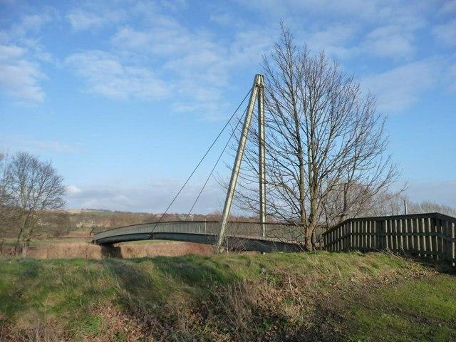 Footbridge below Maiden Castle