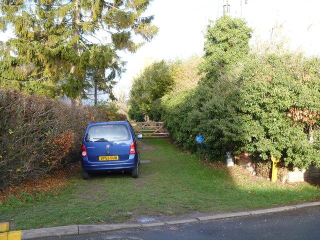 Bridleway leaves the road