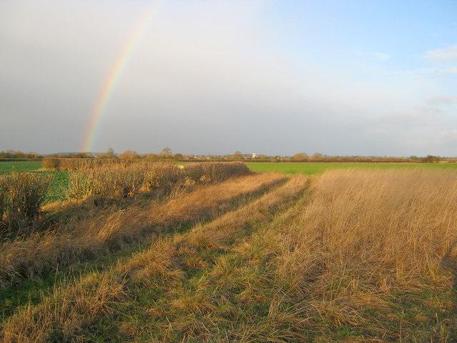 Rainbow over Trent valley farmland