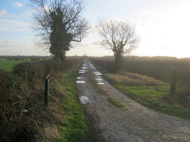 Farm track off Holme Lane