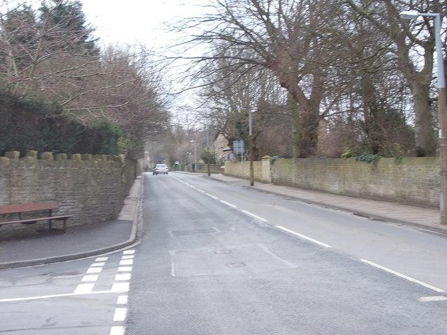 Moorhead Lane - viewed from Fern Hill Road