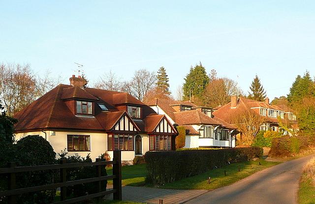 Houses on Bottom House Farm Lane