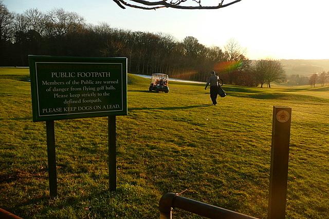 Path across the golf course