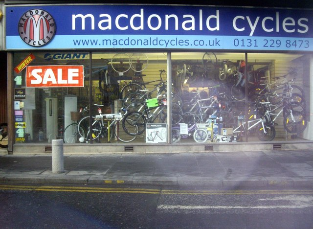 Macdonald Cycles shop, Edinburgh