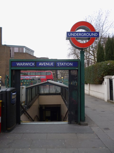 Entrance to Warwick Avenue Underground Station, Warwick Avenue W9
