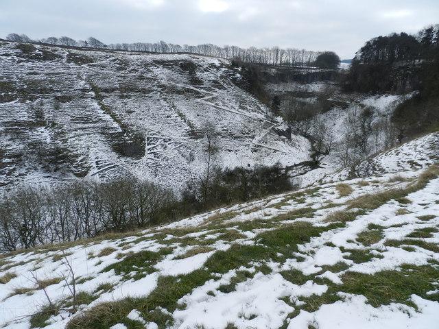Deep Dale, in winter