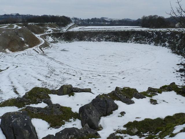 Disused quarry, near Staden