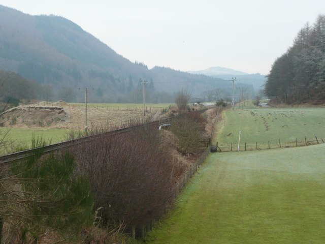 The railway at Dalmarnock