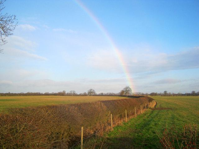 Rainbow over the Trent floodplain
