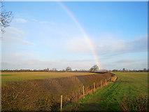 SK8159 : Rainbow over the Trent floodplain by Trevor Rickard