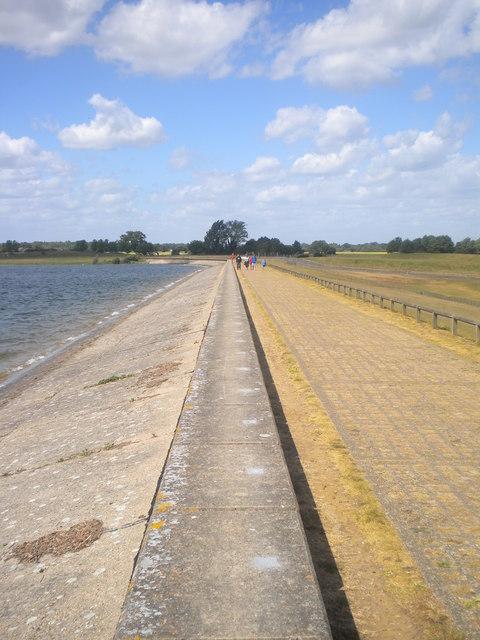 Dam wall at Alton water