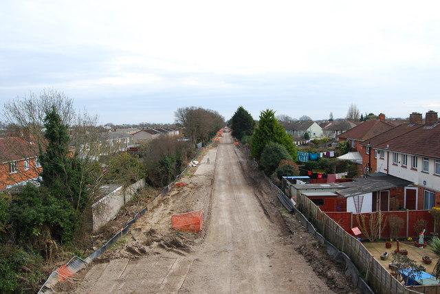 Fareham to Gosport BRT - View from Gregson Avenue Bridge (15)