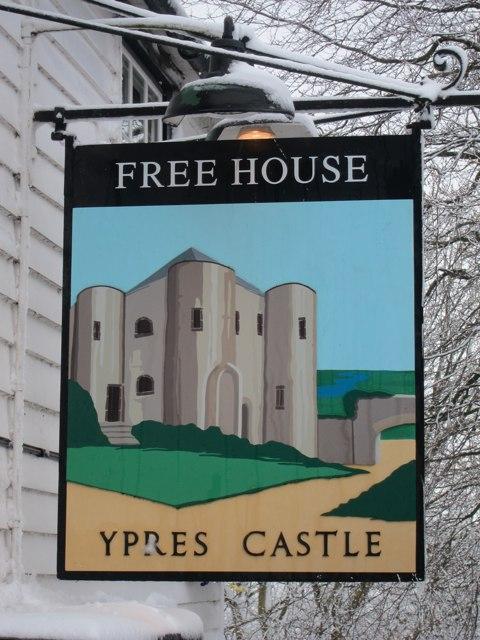 Ypress Castle sign