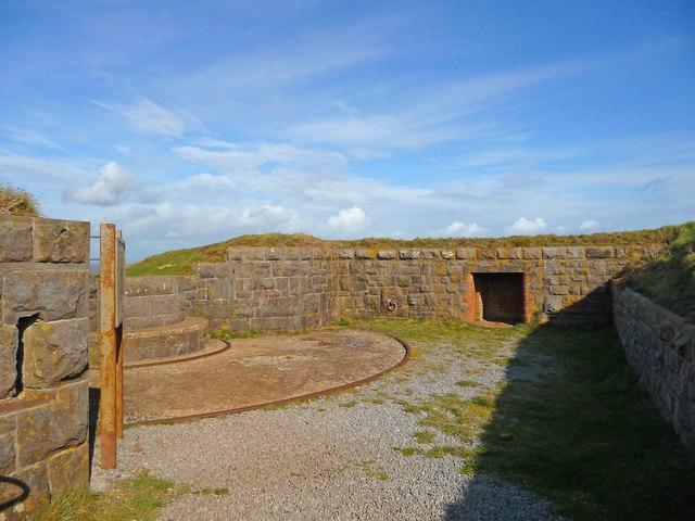 Brean Down - Brean Down Fort Gun Emplacement