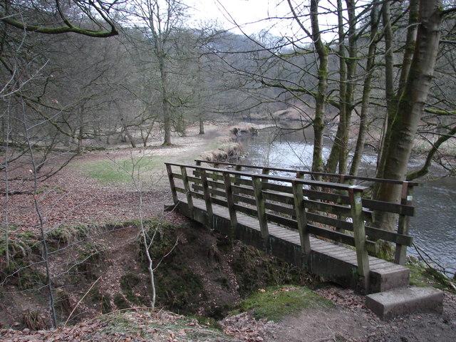 Footbridge at the River Darwen