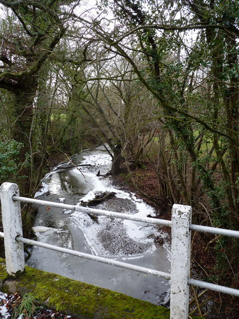 The Harley Brook - upstream of the bridge