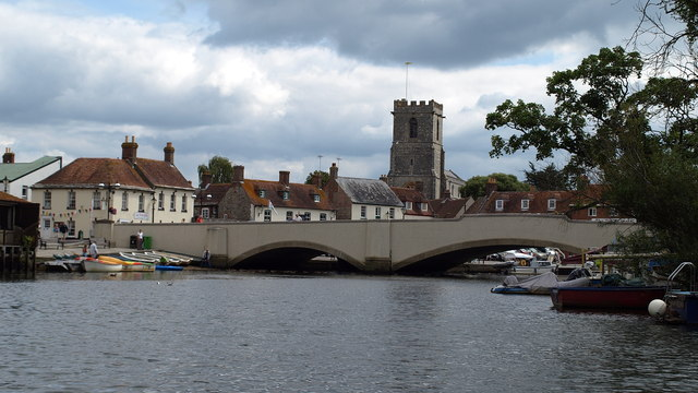 Wareham South Bridge from River Frome