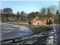 SJ9682 : Lyme Park, Lake and Timber Yard by David Dixon