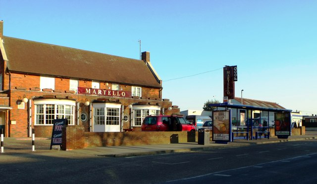 Martello public house and bus shelter, Langney, Eastbourne
