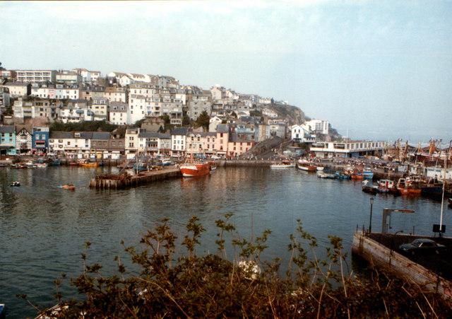 Brixham Harbour in 1984