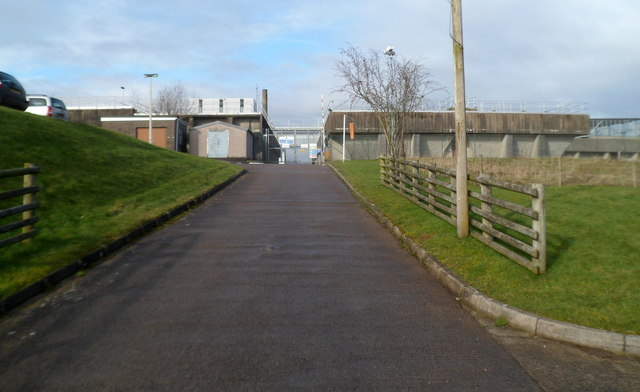 Road to works access gate 2, Welsh Water, Sluvad