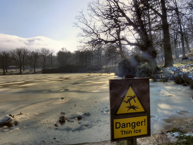 Thin Ice - The Mill Pond at Lyme Park