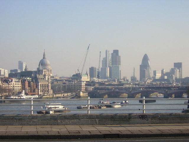 Winter View From Waterloo Bridge C Christopher Hilton