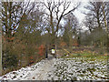 SJ9682 : Lyme Park, Entrance to Crow Wood by David Dixon