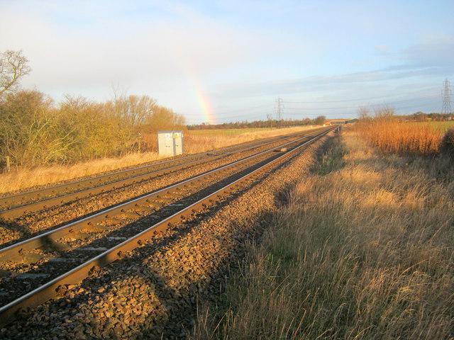 Railway north of Langford