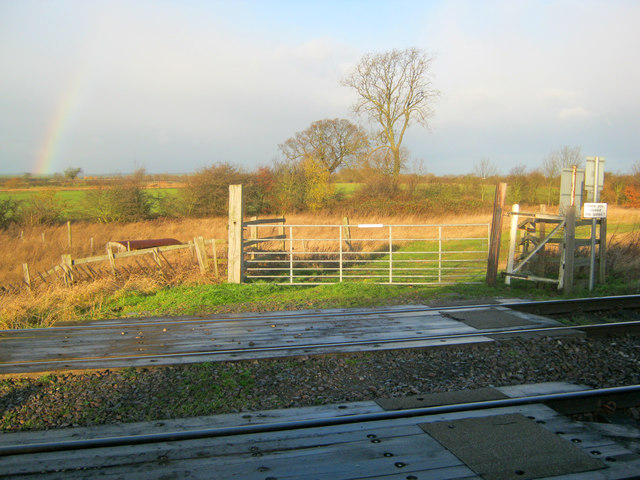 Railway crossing point north of Langford