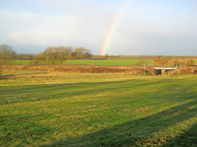Railway embankment north of Langford