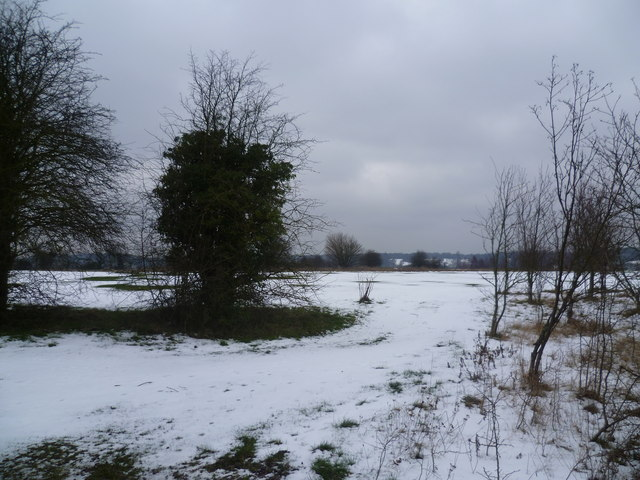 Addington Court Golf Course in the snow
