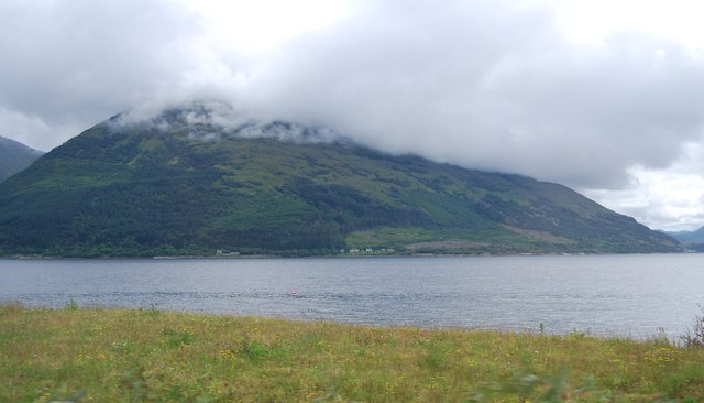 View to Creag Ghorm across Loch Linnhe