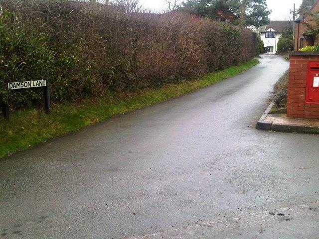 Damson Lane, Coxbank