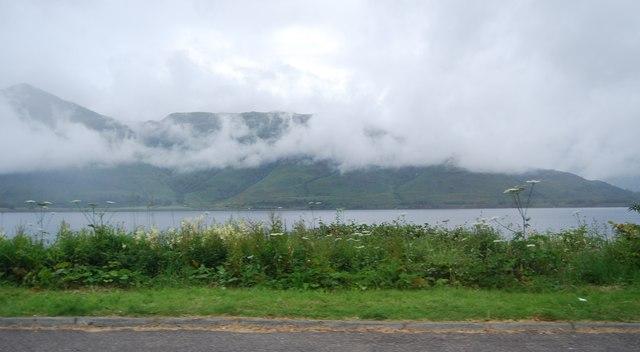 Low cloud over Loch Linnhe
