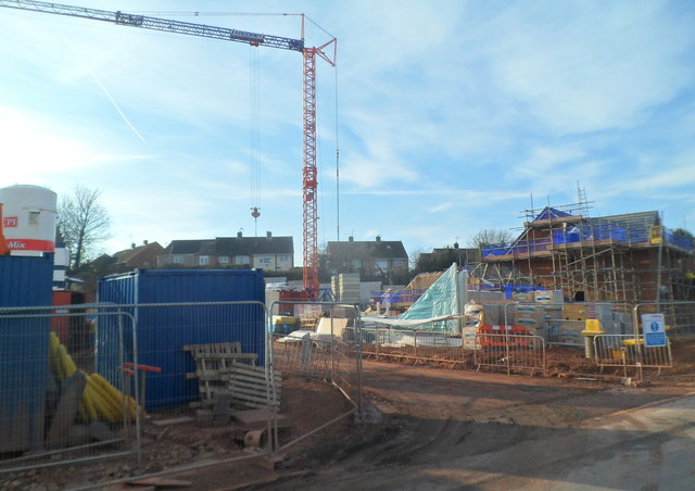 Early stage in the construction of Westfield Rise, Malpas, Newport