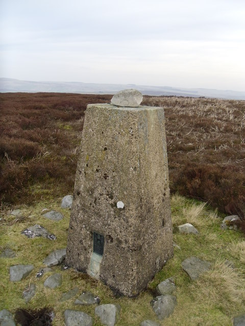 Trig pillar on Copperthwaite Moor