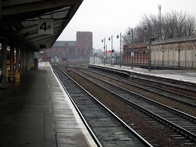 A quiet time at Shrewsbury railway station