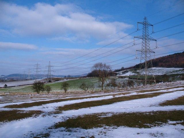 Pylons on the hillside
