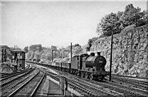 SK1373 : Up freight arriving at Millers Dale by Ben Brooksbank