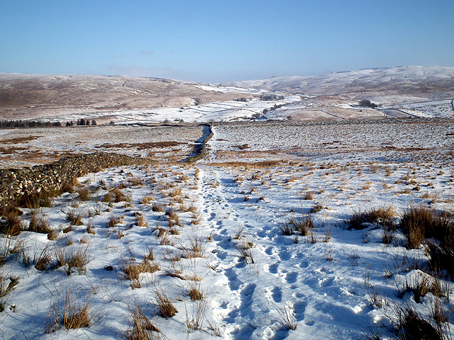 On the path to Park Fell and Ingleborough