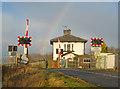 SK8159 : Langford level crossing by Trevor Rickard