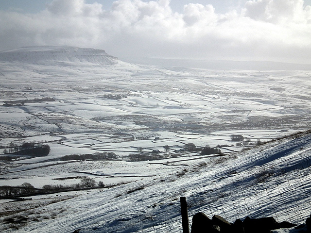 Pen-y-ghent viewed from the slopes of Park Fell