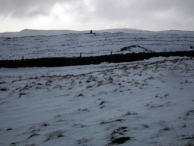 A first sight of Park Fell trig