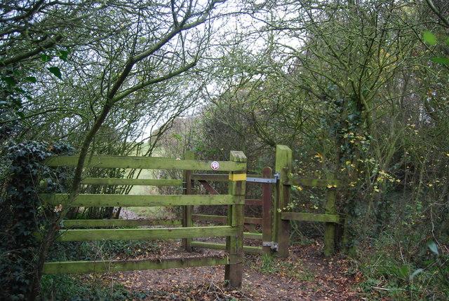 Kissing gate, Saxon Shore Way