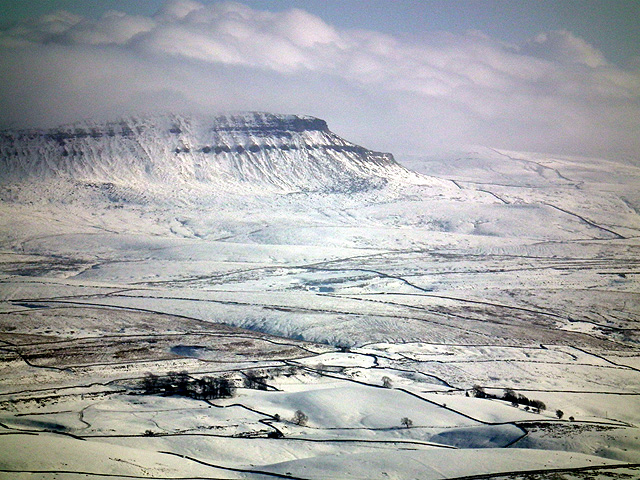 Pen-y-ghent viewed from Park Fell trig