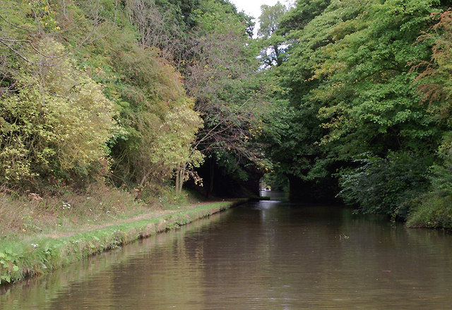 Shropshire Union Canal south of Gnosall, Staffordshire